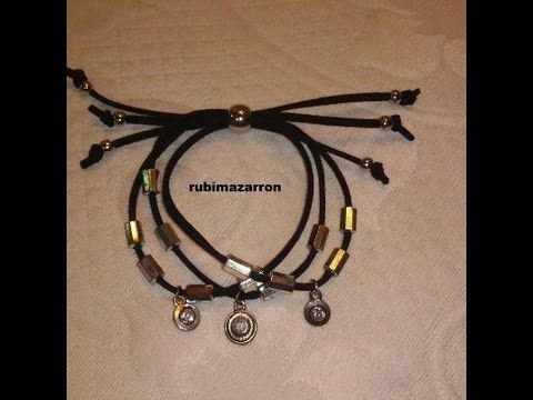 Como hacer pulsera triple. - YouTube