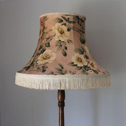 Large Dusty Pink Floral Vintage Standard Lampshade 58 00
