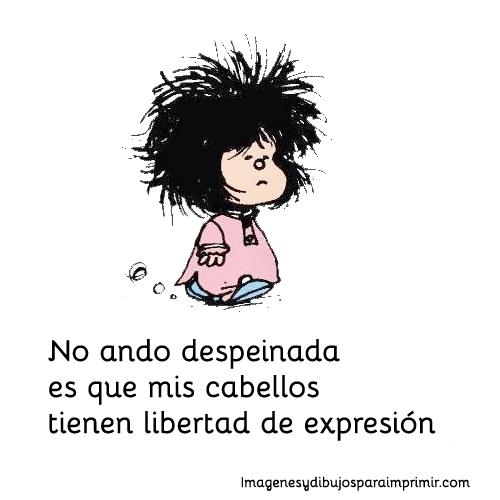 Imagenes Y Frases De Mafalda Mafalda Despeinada Mafalda