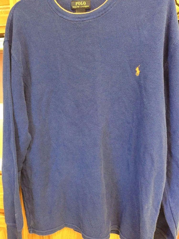 3229e9a5b887 RALPH LAUREN Polo Blue label Shirt Henley XL EXTRA LARGE Long Sleeve Orange   RalphLauren  Henley