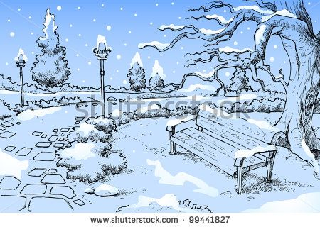 season drawings winter season drawing seasons artwork