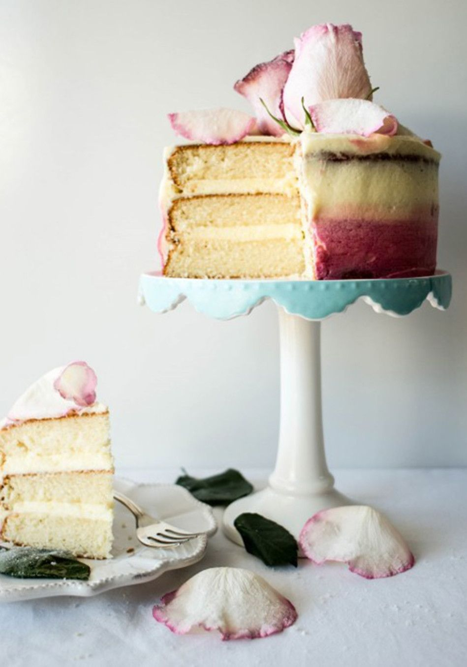 One reader asked if she could marry it. Another said it was so beautiful she might cry. Thalia Ho, who writes the blog Butter and Brioche, created her crystallized white rose cake with Valentine's Day in mind, and it certainly inspired her readers to pour on the love.