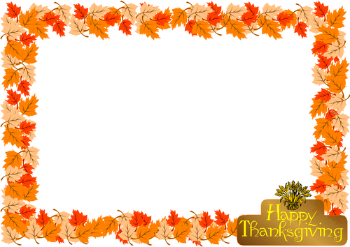 Thanksgiving Day Themed Lined Paper And Pageborder Teaching Resources Lined Paper Borders For Paper Writing Paper
