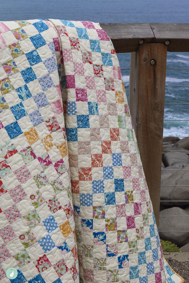 Tilda Lemon Tree Trip Around The World Quilt Aqua Paisley Studio Quilts Postage Stamp Quilt Cozy Quilts