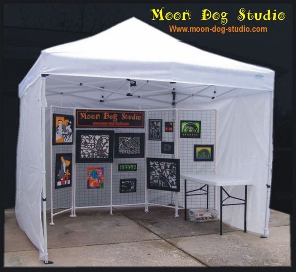 Craft Show 10x10 Canopy Package Deal + 4 Sidewalls u0026 Weight Bags : canopy tents with sides - memphite.com