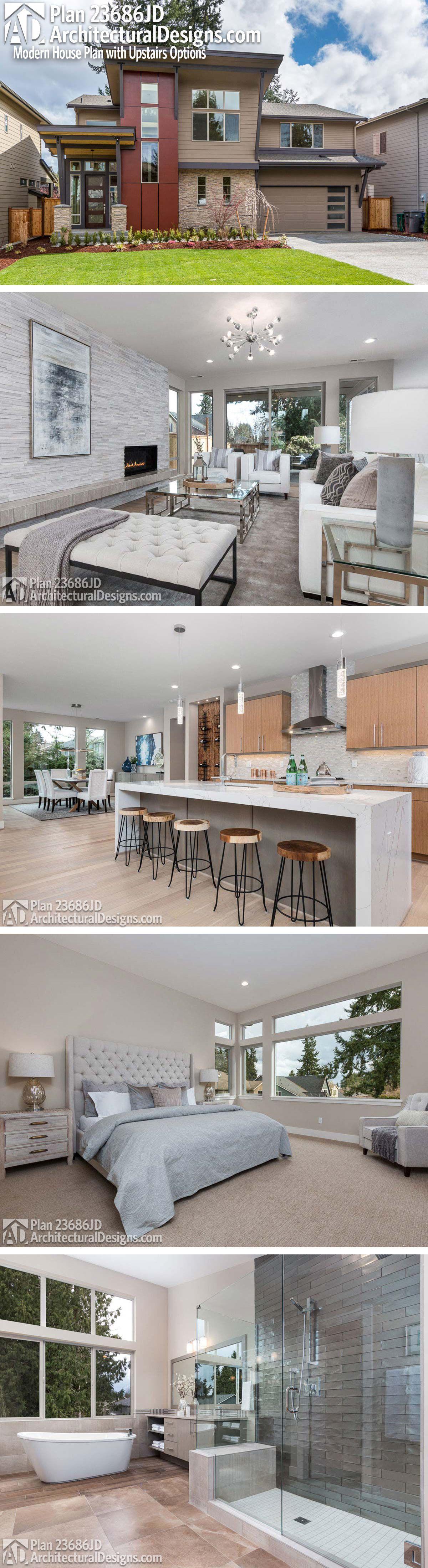 U küchendesignpläne plan jd modern house plan with upstairs options  wohnen