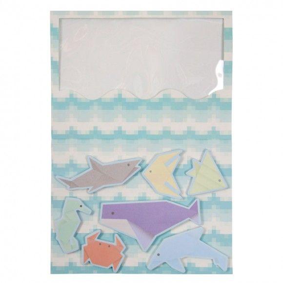 Aqua Marine sticky notes book