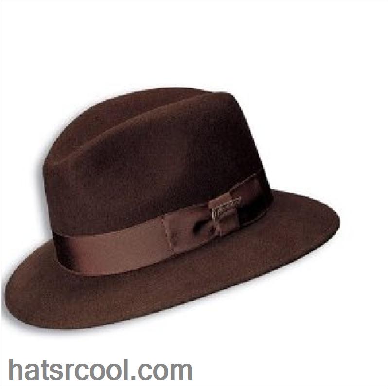Indiana Jones Wool Felt Fedora Safari Brim Indiana Jones Felt Fedora Fedora