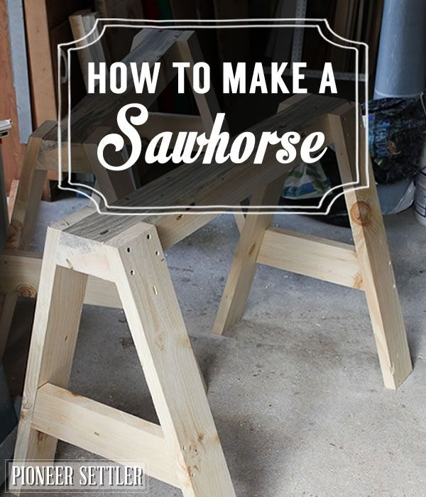 How To Make A Sawhorse Woodworking Bench Diy