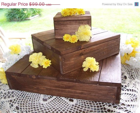 box wedding cake stand rustic cake stand rustic cupcake stand wedding 12115