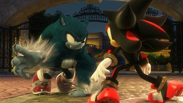 Werehog vs shadow sonic the hedgehog sonic unleashed - Sonic et shadow ...