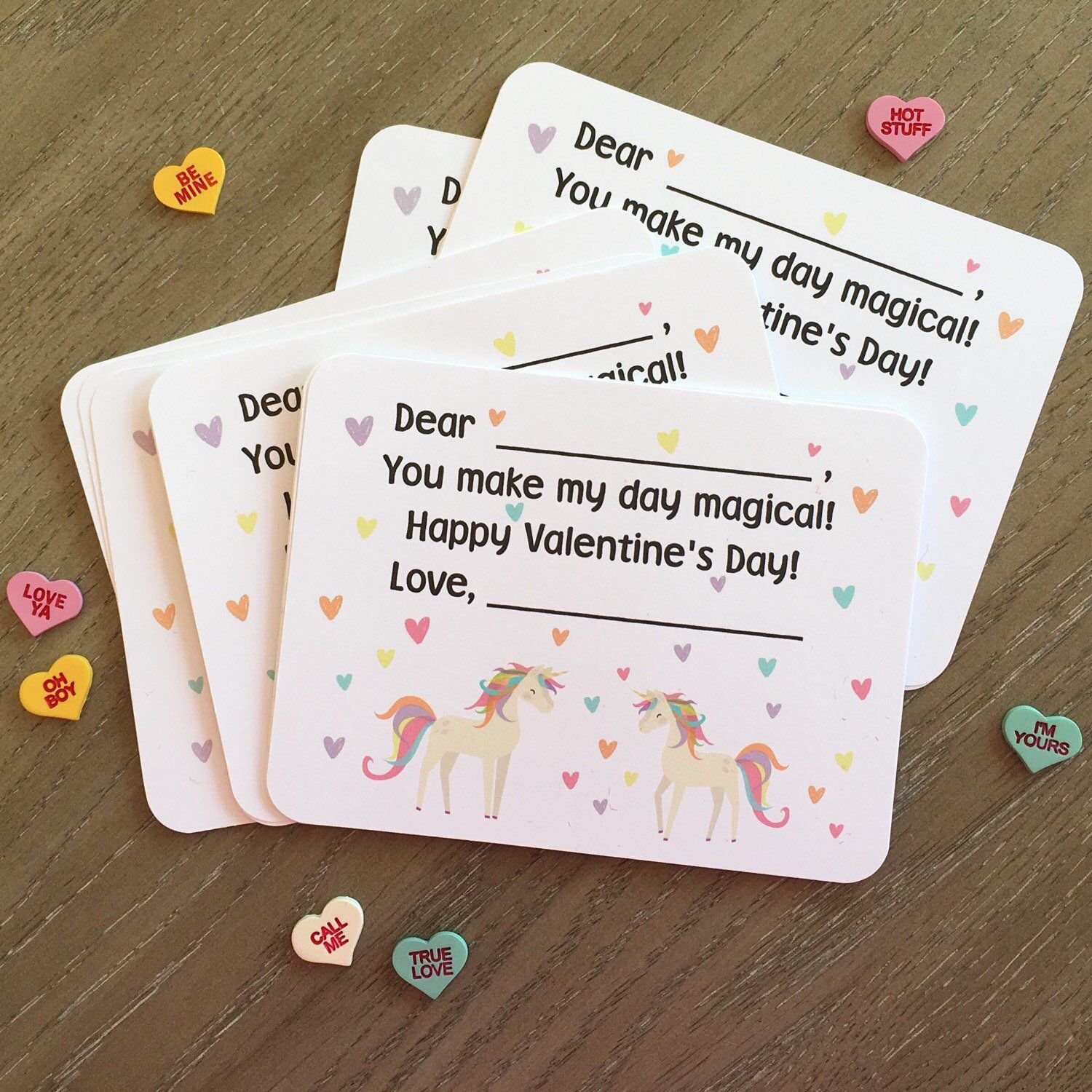 Unicorn Valentines Day Cards