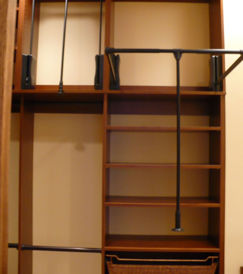 Pull Down Shelves | Manhattan Closet System With Wardrobe Pull Down Units;  Double Hang
