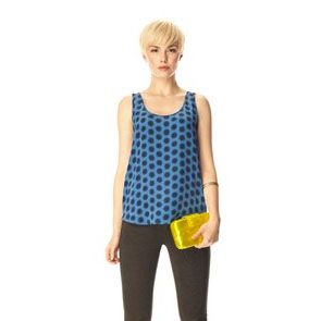 This French Connection silk polka dots blue vest will bring a stylish pop to your work-wear or evening looks. Price: 109 €