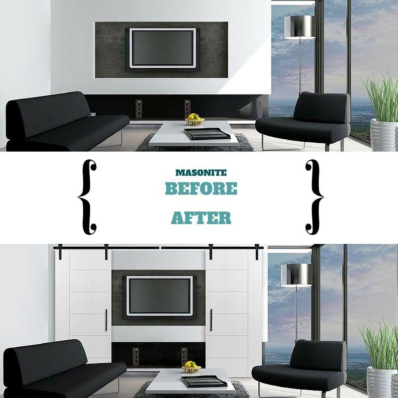 Best Interior Design Websites: Barn Doors Are Great Way To Hide Your TV When Not In Use
