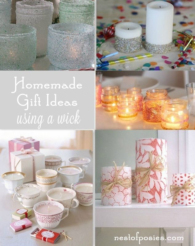 27 Homemade Gift Ideas in a jar, on a string, using a wick & more…