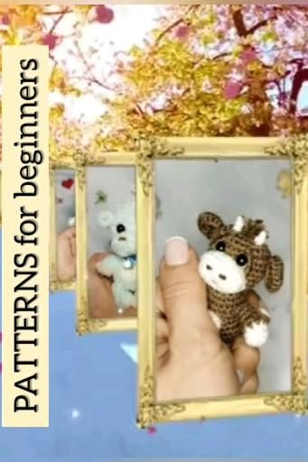 Photo of Easy pattern crochet / pdf and video of crochet make soft toy the size of a palm for beginners