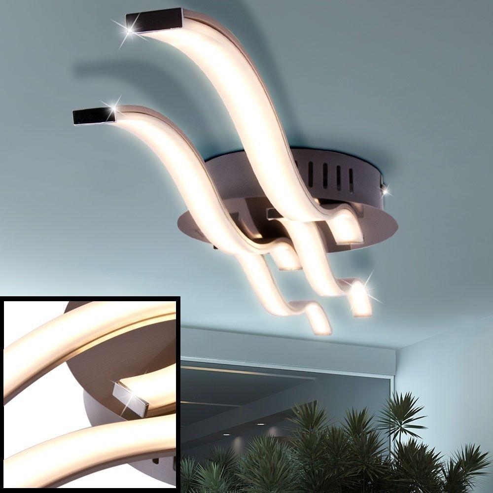 Wunderbar Details Zu LED Design Decken Lampe Wellen Leuchte Wohn Schlaf Ess Zimmer  Büro Beleuchtung