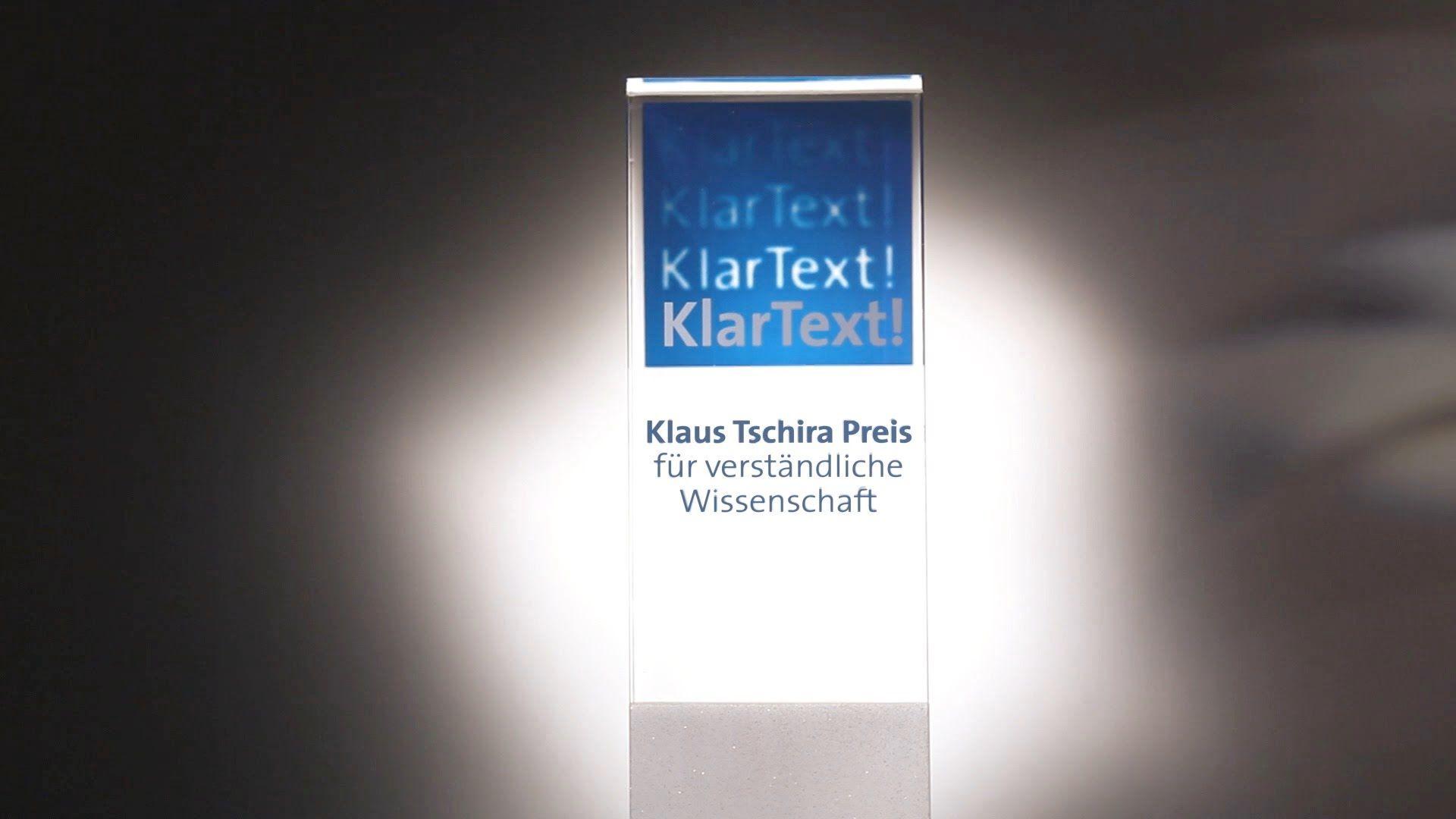Klaus Tschira Preis für verständliche Wissenschaft - KlarText!