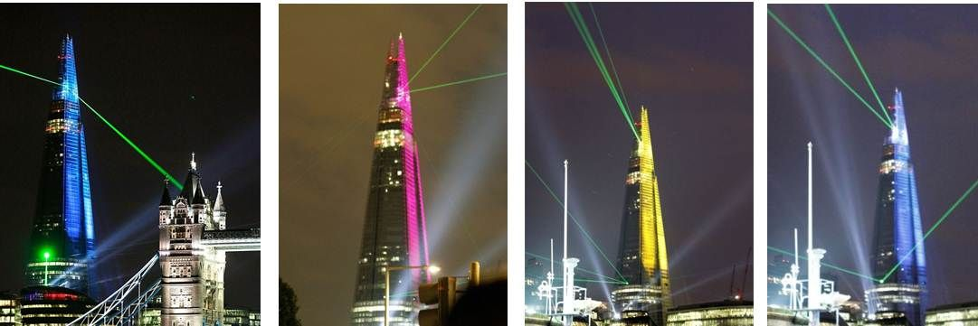 The Shard Laser and Searchlight show