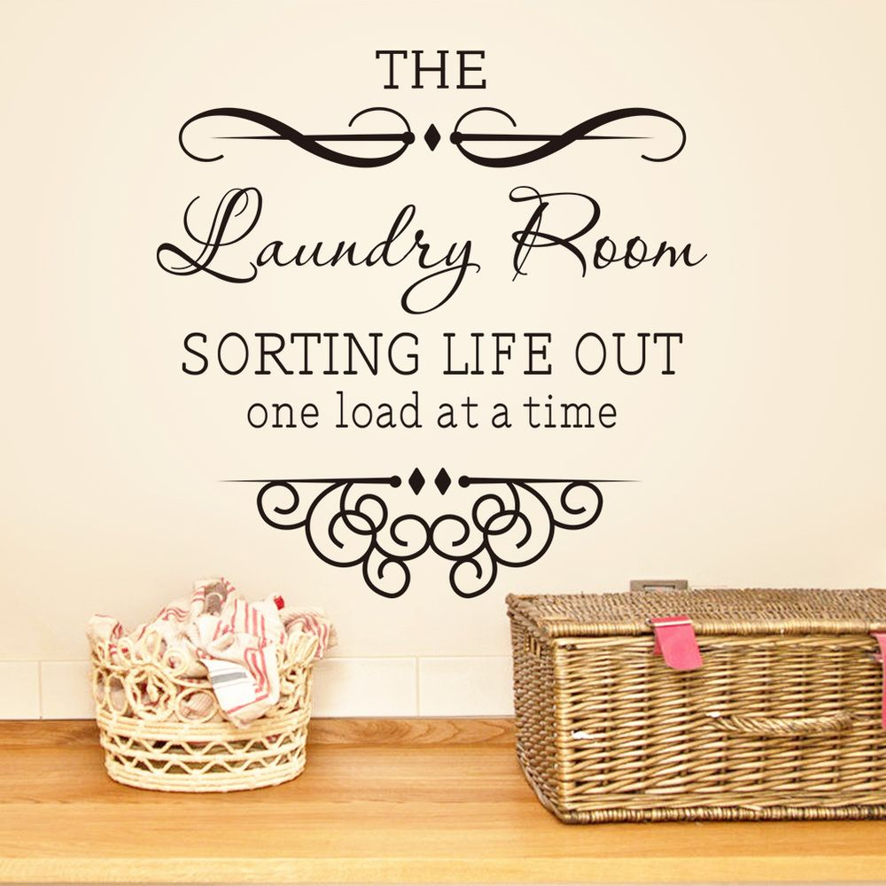Laundry Room Wall Words Laundry Room Vinyl Sayings Help Needed  Google Search  Utility