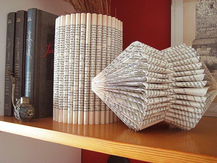paper art book | Art Cylinder Book paper Sculpture altered Book folded paper ... | boo ...