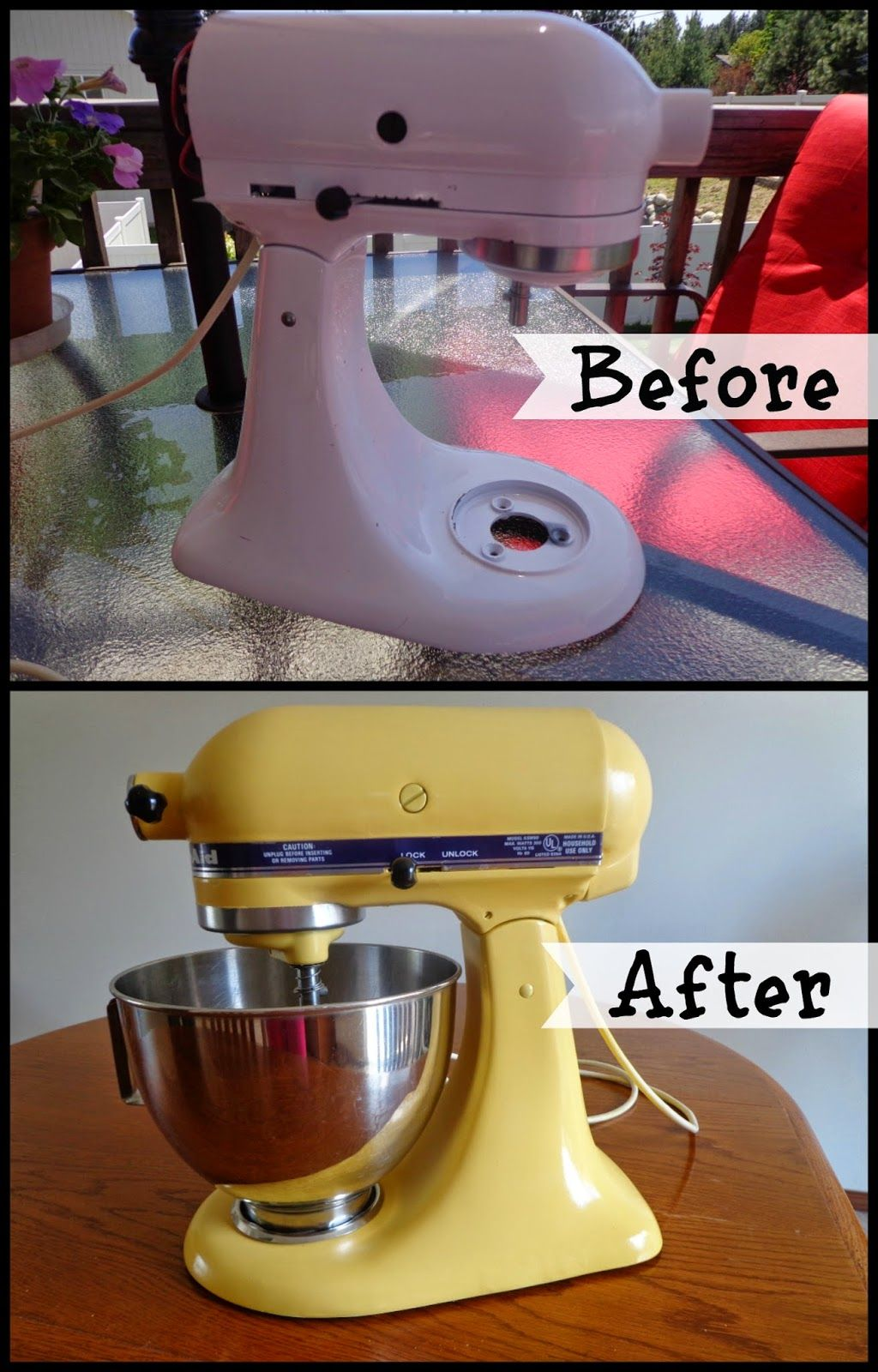 how to paint your kitchen aid mixer the colbert clan diy ideas