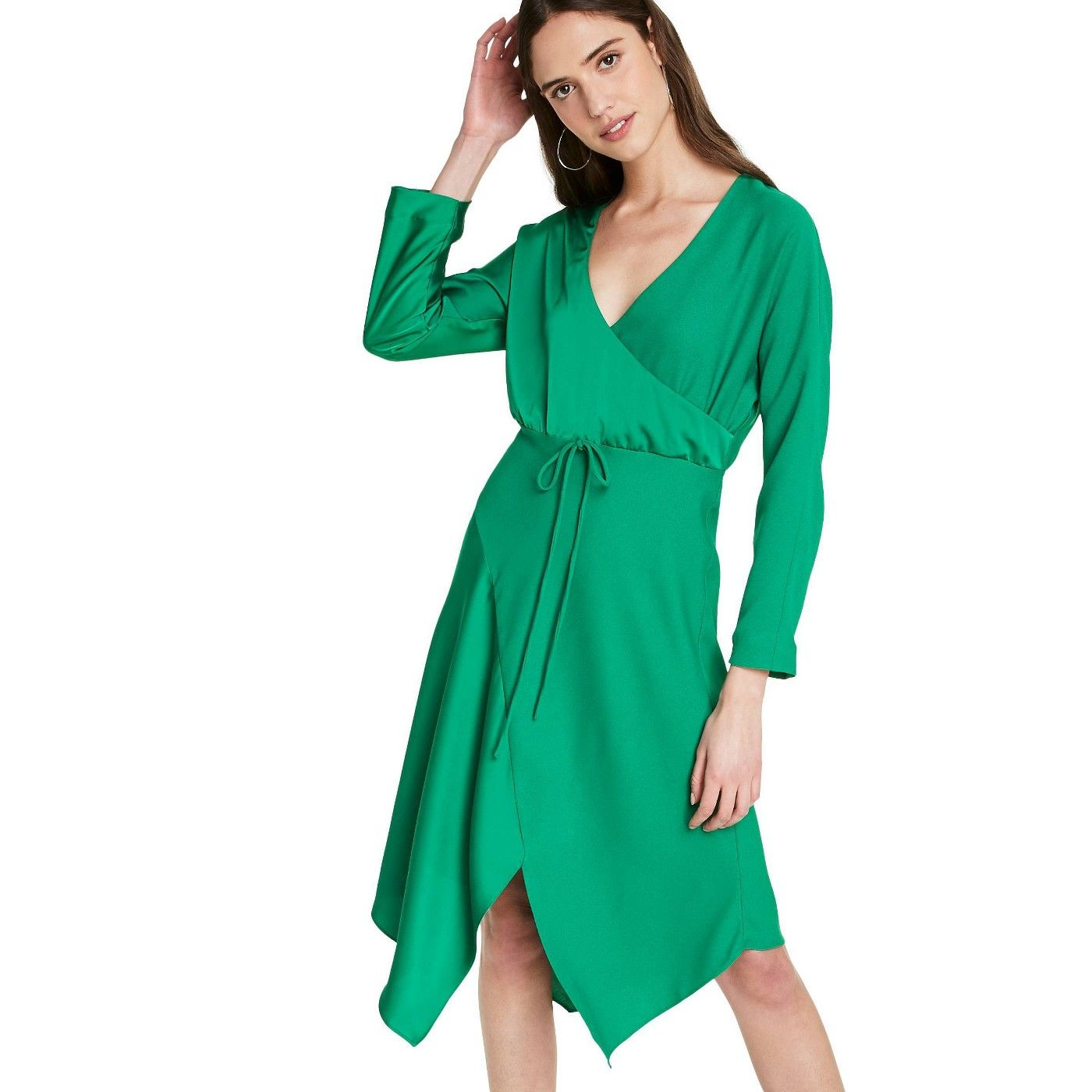 Women S Wrap Dress Cushnie For Target Regular Plus Emerald Green Sponsored Dress Affiliate Cushnie Women Womens Wrap Dress Wrap Dress Dresses [ 1400 x 1400 Pixel ]