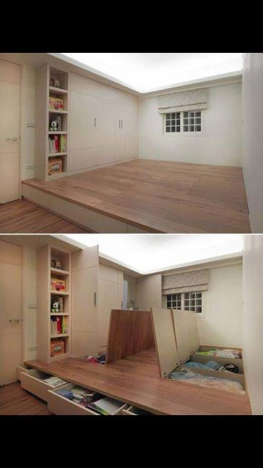 Turn dead space above a staircase into a playroom home - Ideas for dead space in living room ...