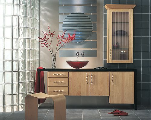 Modern Maple Natural Vanity Really Cool Hardware Kitchen