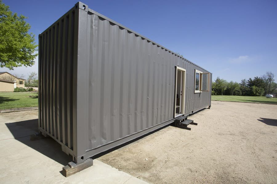 Shipping Container Transformed Into A Tiny House Container House Shipping Container Shipping Container Homes