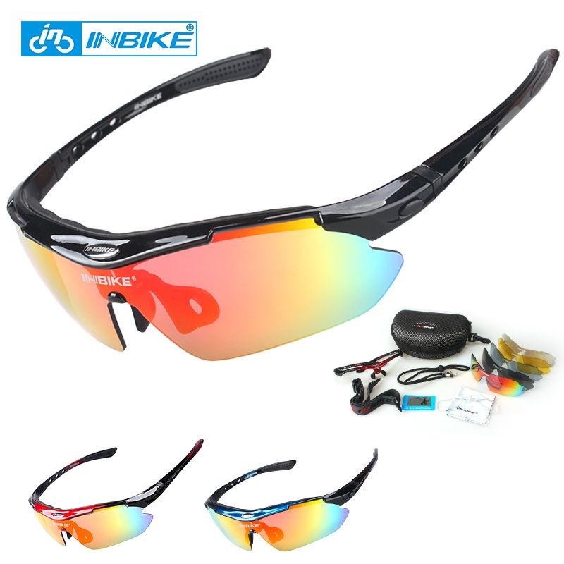 1dad2c0f8a INBIKE Cycling Sunglasses Bike Bicycle Glasses Polarized Eyewear Goggle 5  Lens 3 Colors Frame UV Proof
