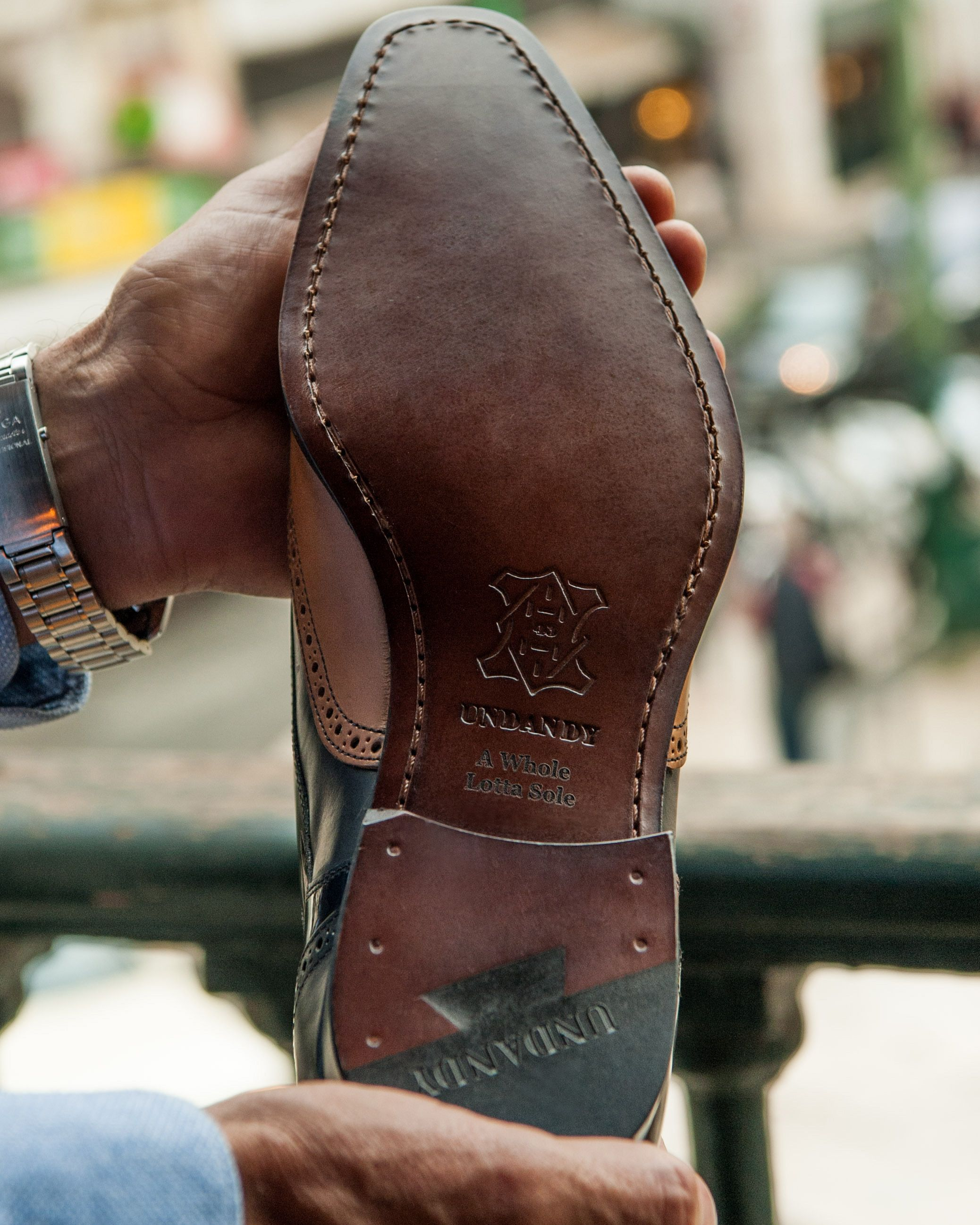 Undandy handcrafted custom made dress shoes for men engraved soles