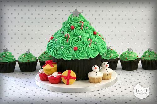 Giant Cupcake Christmas Tree   Flickr - Photo Sharing!