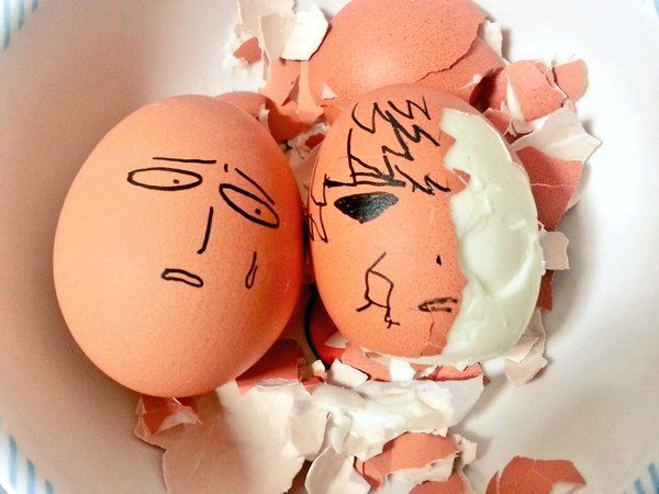 OnePunch-Man eggs #opm #saitama #genos after every battle :)