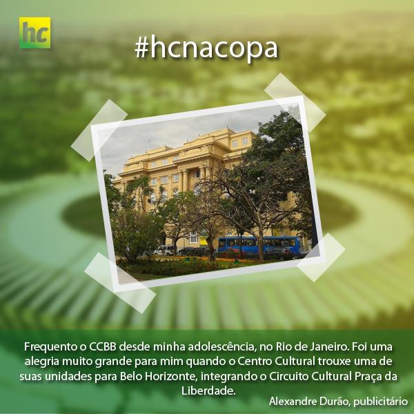 A dica do publicitário Alexandre Durão para os turistas que estão em BH é visitar o CCBB Belo Horizonte, localizado na Praça da Liberdade. E você? O que quer mostrar para nossos visitantes?