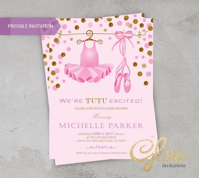 Little Ballerina Baby Shower Invitation