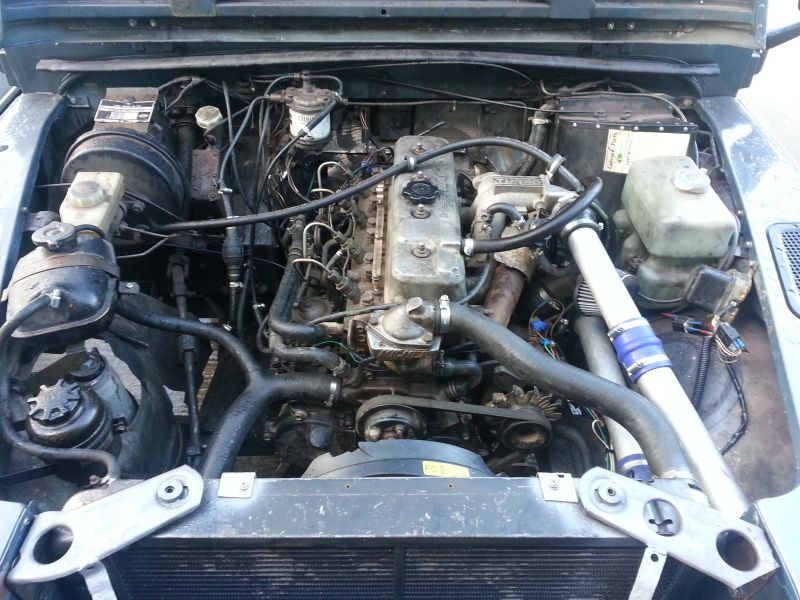 Isuzu 2 8TD engine retrofitted into a 110 | Landy | Land