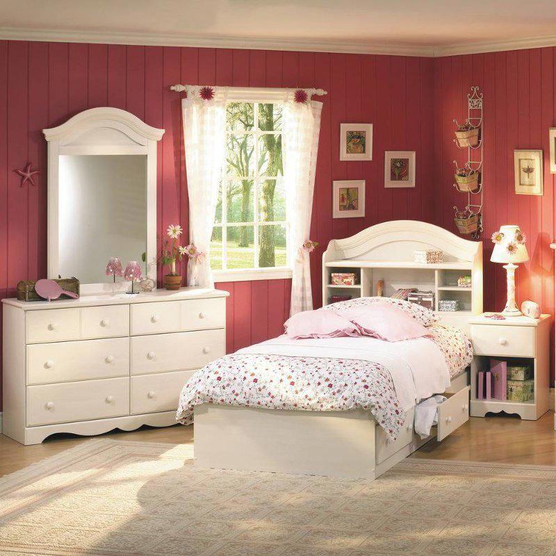 White Wash 4 Piece Twin Bedroom Set Summer Breeze