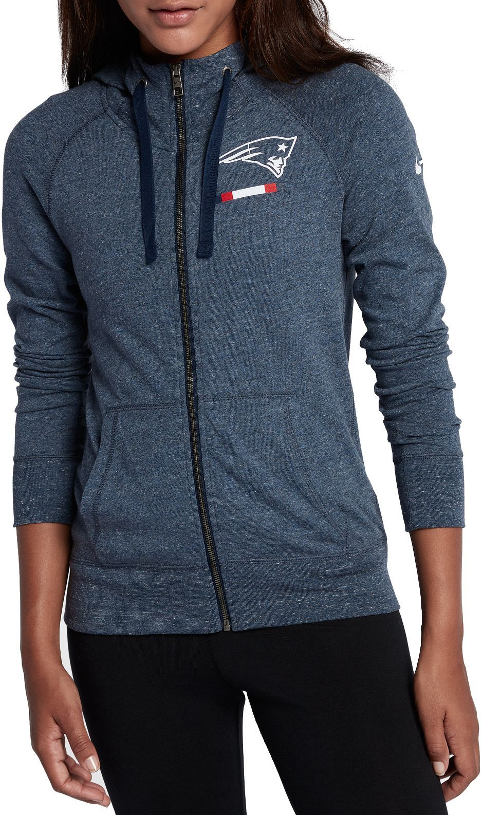 f1319f1dc489e Nike Women s New England Patriots Gym Vintage Full-Zip Navy Hoodie ...