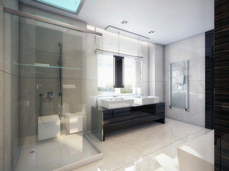 baño moderno con revestimiento de rectificados de mármol 5956a4d21baa