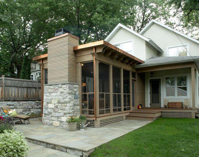 Striking Three Season Porch Trehus Architects Three Season