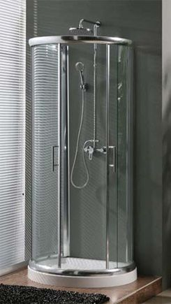 Milano D Shaped Shower Enclosure 900mm x 770mm One Wall Shower ...