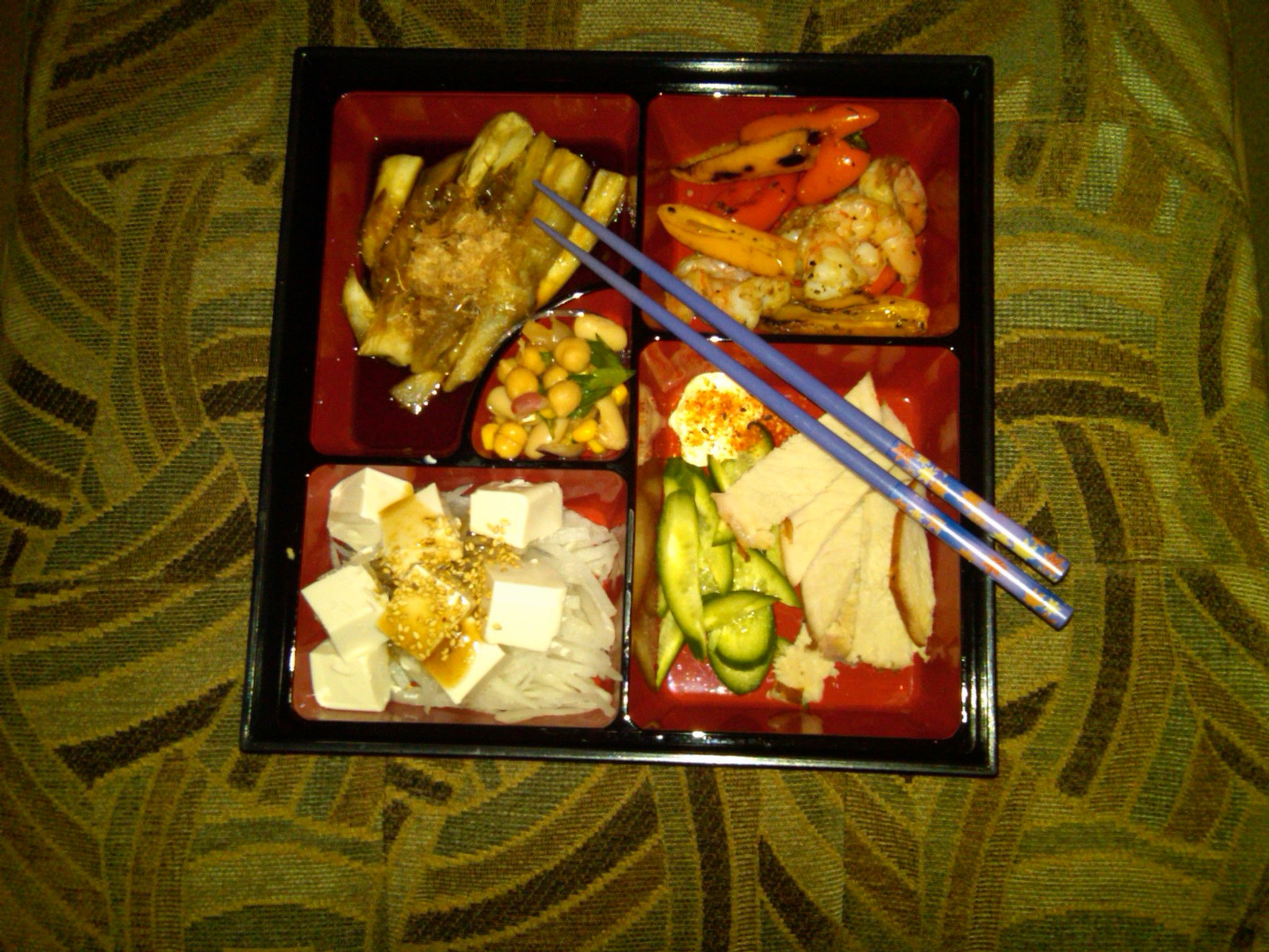 Delicious Bento Box that Shin made me for dinner last night...it was delicious!!