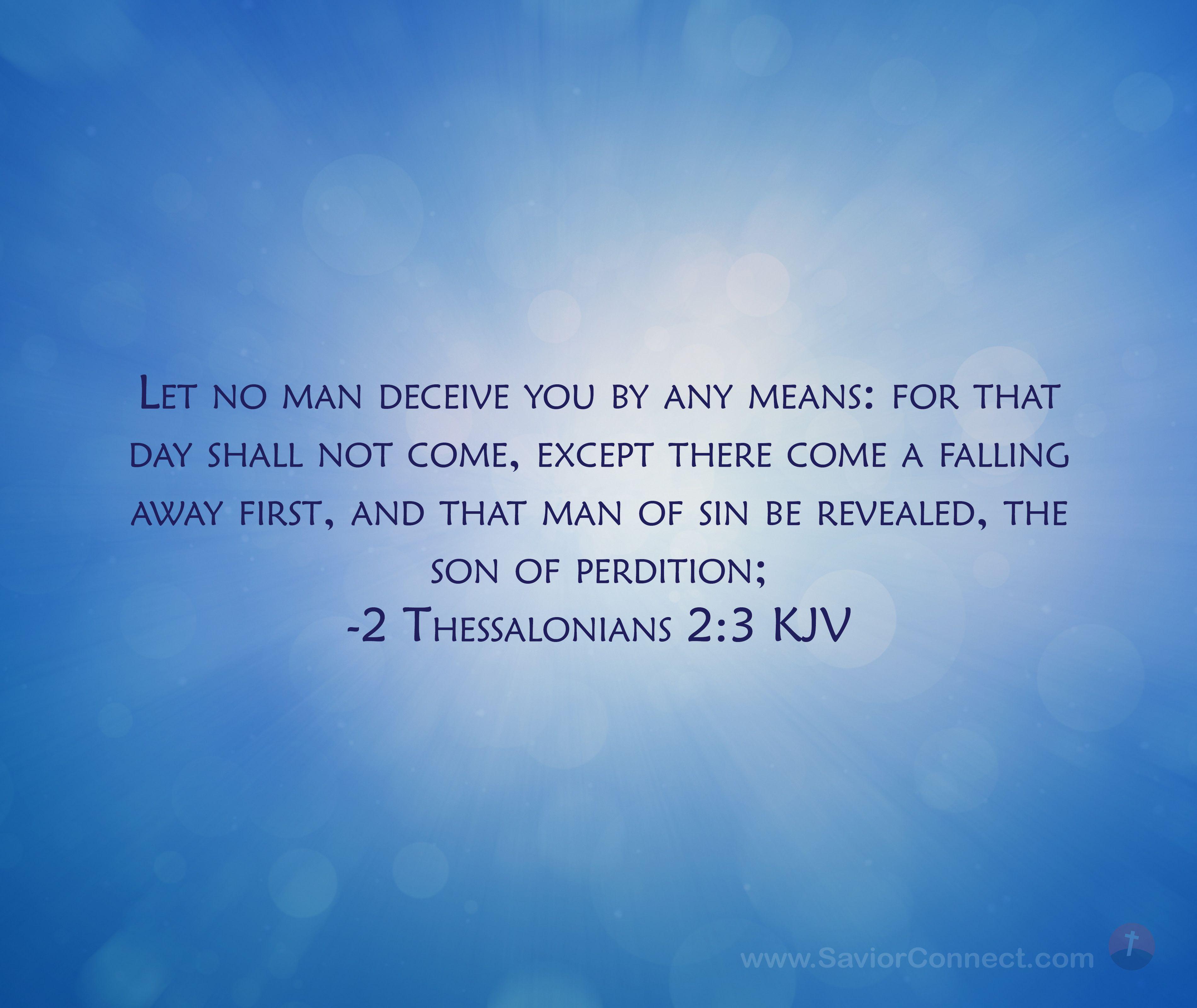 2 Thessalonians  2:3 King James Version | King james version, Kjv, Scripture images