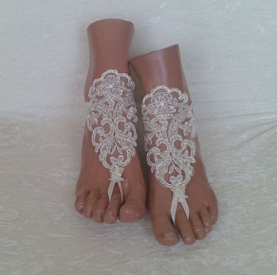 453d5d684e6653 Free Ship bridal bangle ivory silver embrodeired by GlovesByJana