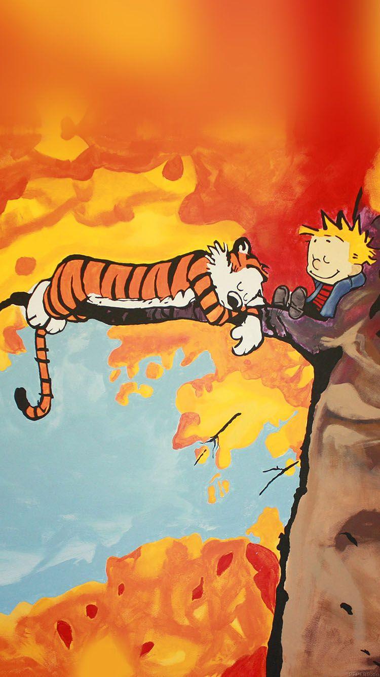 Aa52 Calvin And Hobbes Tree Nap Illust Art Calvin Hobbes