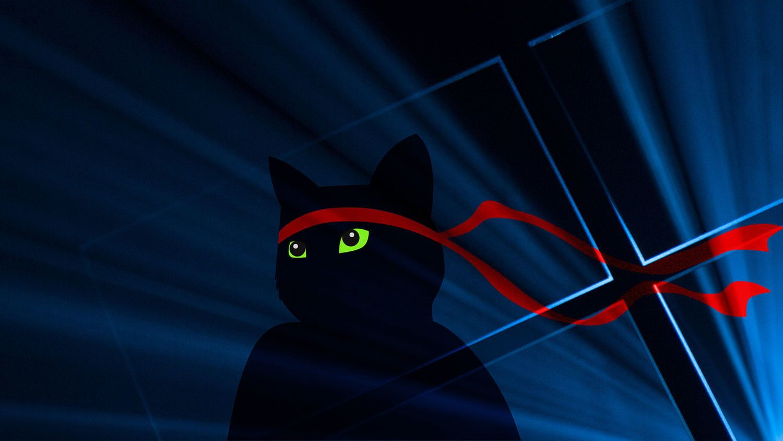 Microsoft Dops Ninja Cat Wallpapers For Anniversary Festivities Digital Trends Cat Wallpaper Ninja Cats Paw Cartoon