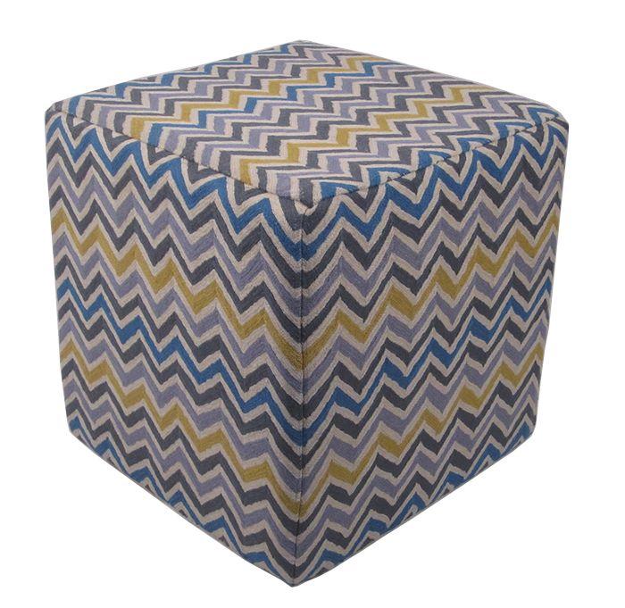 Momeni Chainstitch Pillows Ottomans Cso5 Multi Ottoman Ottomans - Home Brands USA
