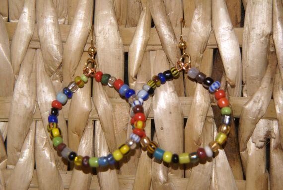 MiniBeaded Hoop Ea rrings by ZTGabbyCreations on Etsy, $3.00